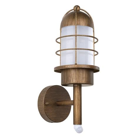 EGLO 89534 - Venkovní svítidlo MINORCA se senzorem 1xE27/60W měď