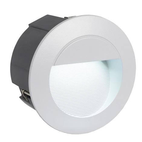 EGLO 89543 - LED Venkovní svítidlo ZIMBA LED 1xLED/1,05W stříbrná IP65