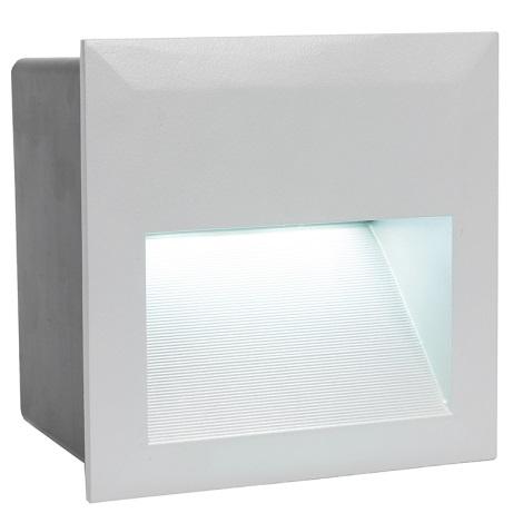 EGLO 89545 - LED Venkovní svítidlo ZIMBA LED 1xLED/1,35W stříbrná