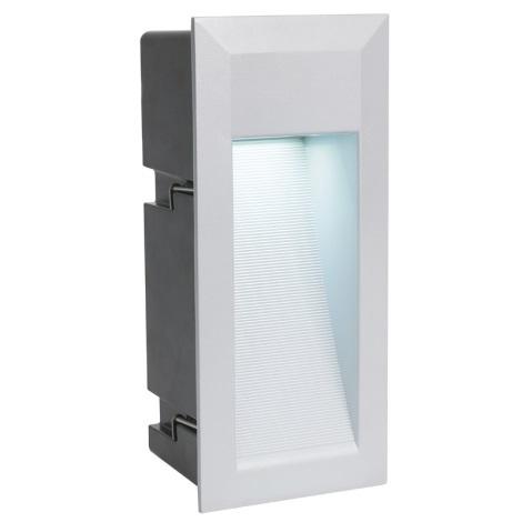 EGLO 89546 - LED Venkovní svítidlo ZIMBA LED 1xLED/1,35W stříbrná