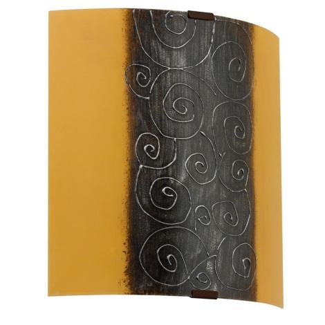 EGLO 89684 - Nástěnné svítidlo LARA 1 x E27/60W bílá/hnědá/oranžová