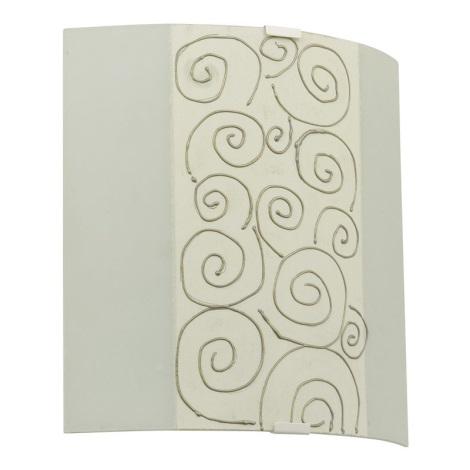 EGLO 89686 - Nástěnné svítidlo LARA 1 x E27/60W bílá/béžová/zlatá