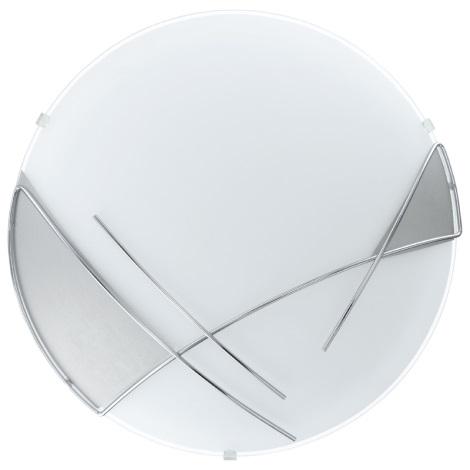 EGLO 89758 - Nástěnné stropní svítidlo RAYA 1 x E27/60W stříbrná / bílá