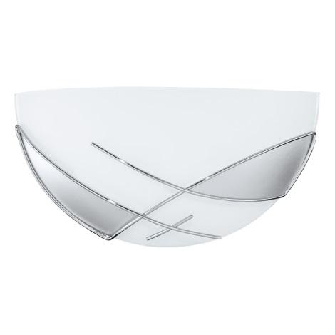 EGLO 89759 - Nástěnné svítidlo RAYA 1 x E27/60W stříbrná / bílá
