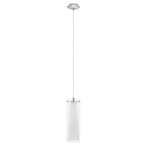 EGLO 89832 - Lustr závěsný PINTO 1 x E27/60W bílé opálové sklo