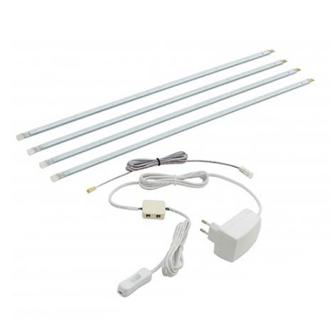 EGLO 90187 - LED pásek ZIBA 4x48cm 4x1,25W/LED světle modrá