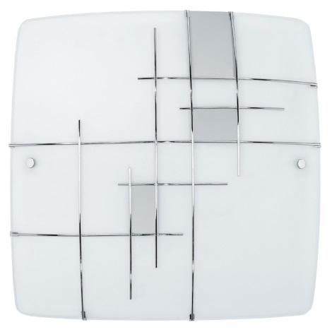 EGLO 90383 - Nástěnné stropní svítidlo RAYA 1 2xE27/60W stříbrná / bílá