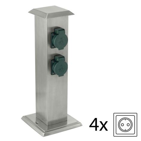 EGLO 90748 - Venkovní zásuvkový sloupek PARK 4 zelená