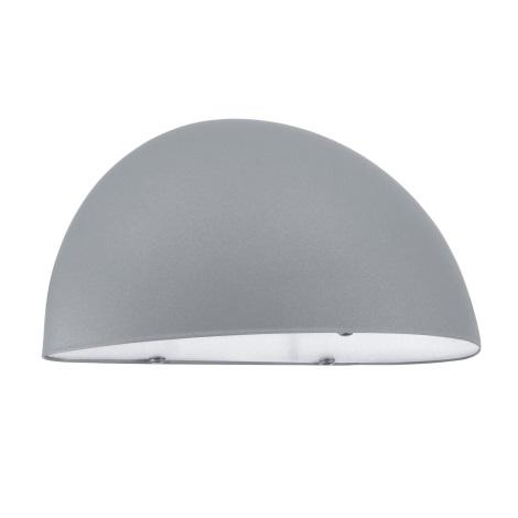 EGLO 90866 - Venkovní nástěnné svítidlo LEPUS 1xE27/40W stříbrná / bílá