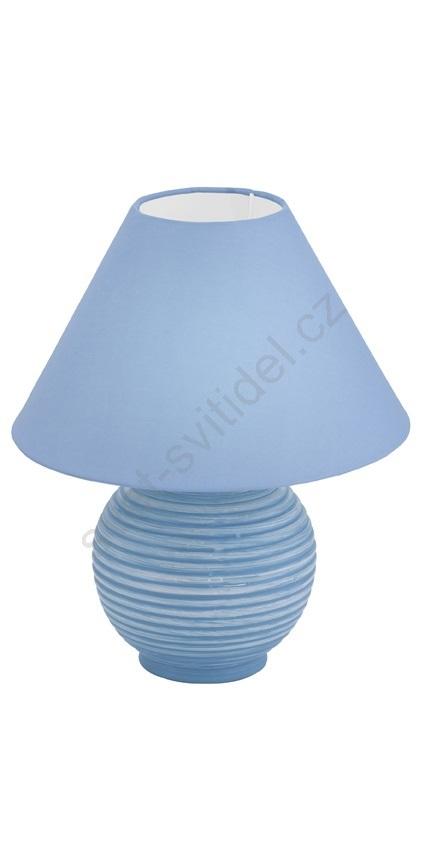 EGLO 90895 - Stolní lampa SARNO 1xE14/40W modrá