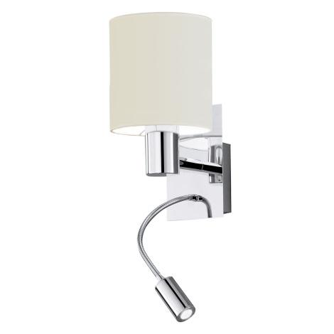 EGLO 90925 - Nástěnné svítidlo HALVA 1xE27/40W bílá