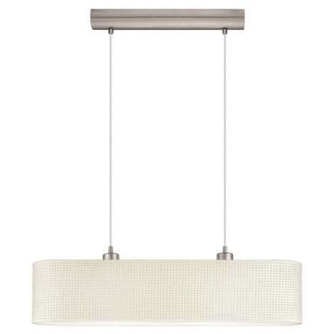 EGLO 91284 - Závěsný lustr KALUNGA 2xE27/60W/230V