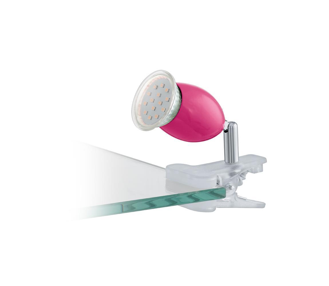 Eglo 92908 - LED lampa s klipem BRIVI 1xGU10/3W/230V EG92908