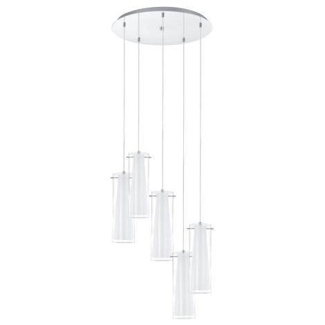 EGLO 93003 - Závěsné svítidlo PINTO 5xE27/60W