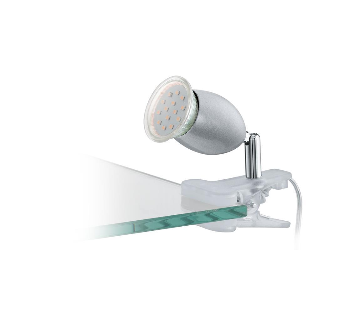 Eglo 93119 - LED lampa s klipem BANNY 1 1xGU10/3W/230V EG93119
