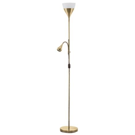 Eglo 93213 - Stojací lampa SPELLO 2 1xE27-LED/7W + GU10-LED/3W