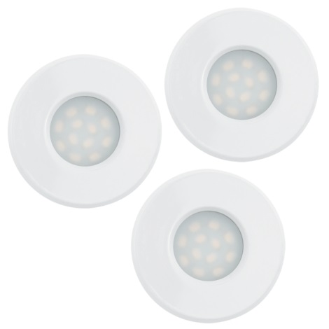 Eglo 93218 - SADA 3x LED Koupelnové podhledové svítidlo IGOA 3xGU10/5W IP44