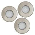 Eglo 93221 - SADA 3x LED koupelnové podhledové svítidlo IGOA 3xGU10/5W/230V IP44