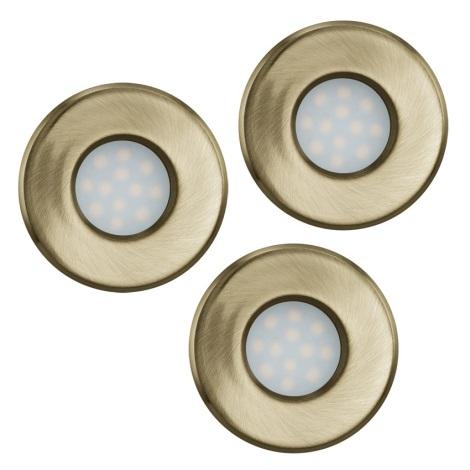 Eglo 93222 - SADA 3x LED koupelnové podhledové svítidlo IGOA 3xGU10/5W/230V