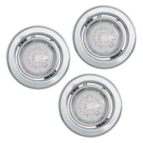 Eglo 93227 - SADA 3x LED podhledové svítidlo IGOA 3xGU10/5W/230V