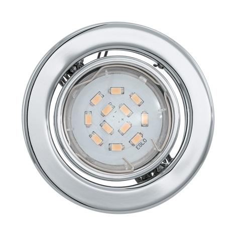Eglo 93233 - LED podhledové svítidlo IGOA 1xGU10/5W/230V chrom lesk