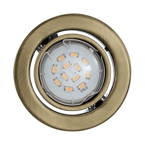 Eglo 93235 - LED podhledové svítidlo IGOA 1xGU10/5W/230V bronz