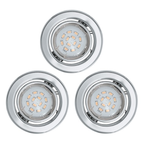 Eglo 93236 - SADA 3x LED podhledové svítidlo IGOA 3xGU10/5W/230V