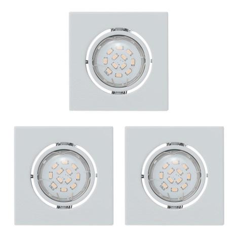 Eglo 93245 - SADA 3x LED podhledové svítidlo IGOA 3xGU10/5W/230V