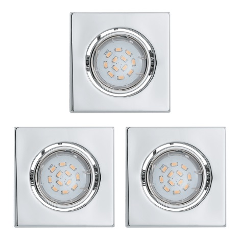 Eglo 93246 - SADA 3x LED podhledové svítidlo IGOA 3xGU10/5W/230V