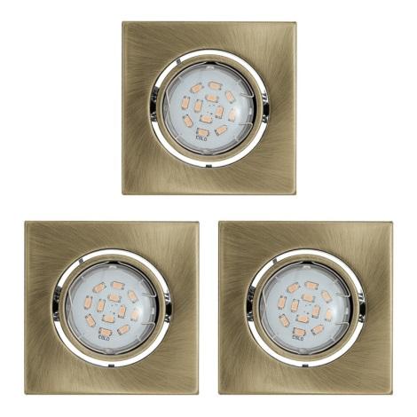 Eglo 93248 - SADA 3x LED podhledové svítidlo IGOA 3xGU10/5W/230V