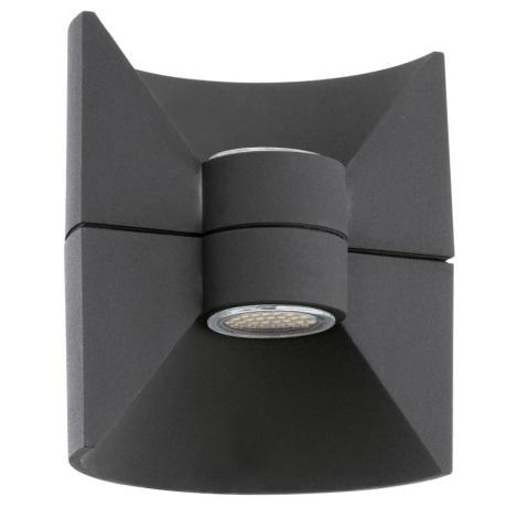 Eglo 93368 - LED nástěnné svítidlo REDONDO Antracit 2xLED-SMD/2,5W/230V