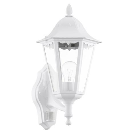 Eglo 93447 - Venkovní nástěnné svítidlo s čidlem NAVEDO 1xE27/60W/230V