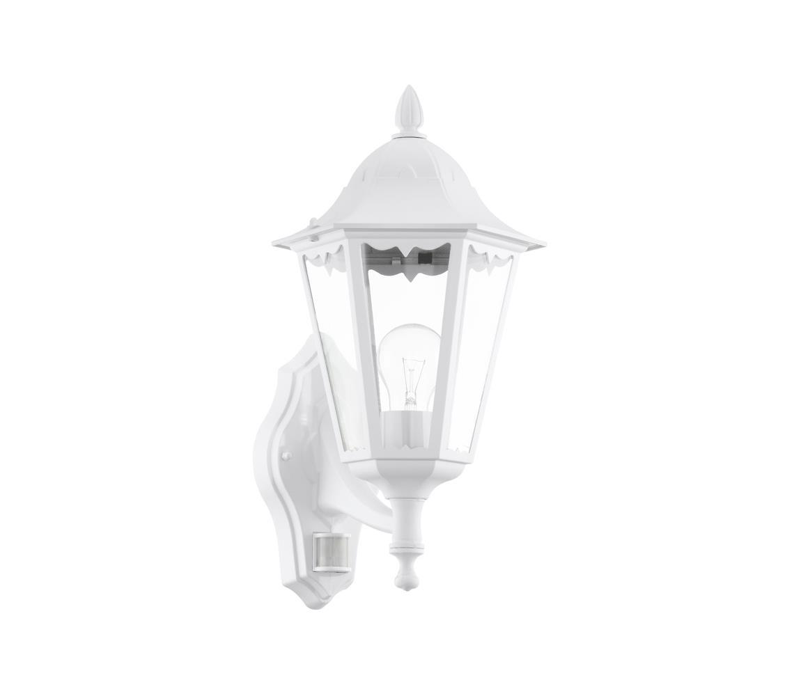 Eglo 93447 - Venkovní nástěnné svítidlo s čidlem NAVEDO 1xE27/60W/230V IP44 EG93447