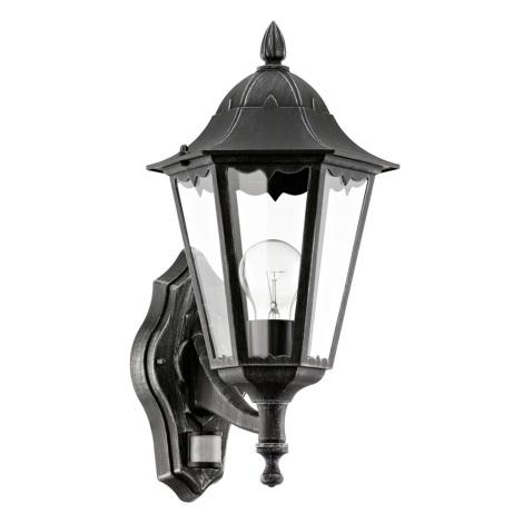 Eglo 93458 - Venkovní nástěnné svítidlo s čidlem NAVEDO 1xE27/60W/230V
