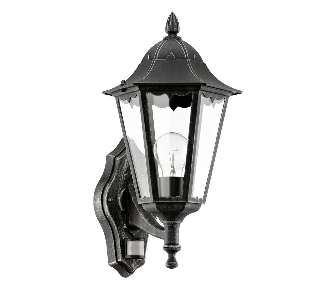 Eglo 93458 - Venkovní nástěnné svítidlo s čidlem NAVEDO 1xE27/60W/230V IP44 EG93458