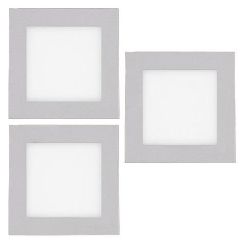 Eglo 93652 - SADA 3x LED vestavné schodišťové svítidlo GLENN 3xLED/2,5W/230V