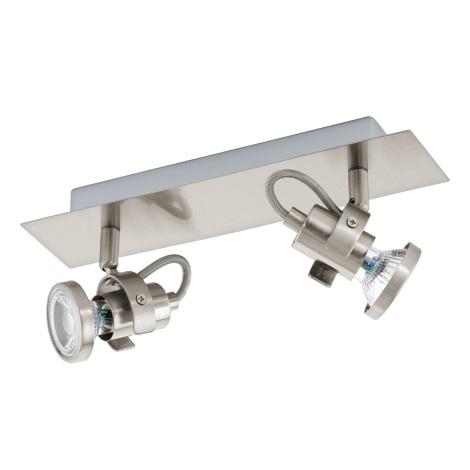 Eglo 94145 - LED Bodové svítidlo TUKON 2xGU10-LED/3,3W/230V