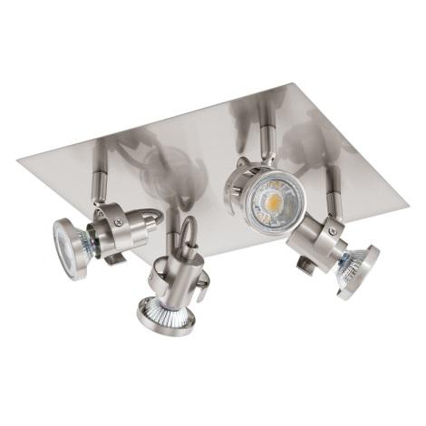 Eglo 94147 - LED Bodové svítidlo TUKON 4xGU10-LED/3,3W/230V
