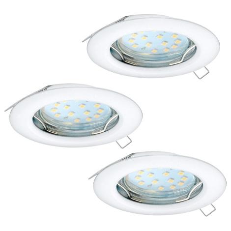 Eglo 94235 - SADA 3x LED Podhledové svítidlo PENETO 3xGU10-LED/3W/230V