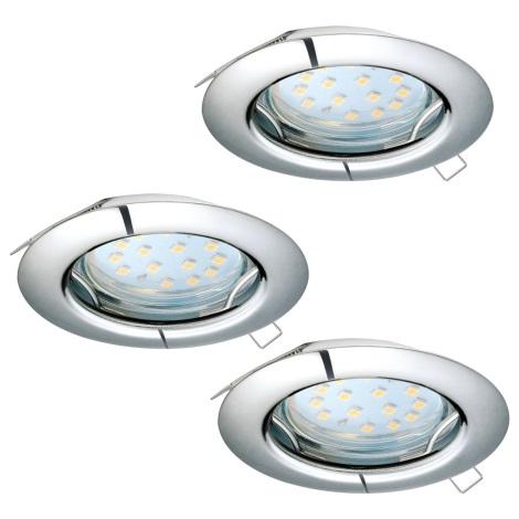 Eglo 94236 - SADA 3x LED Podhledové svítidlo PENETO 3xGU10-LED/3W/230V