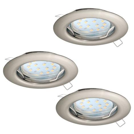 Eglo 94237 - SADA 3x LED Podhledové svítidlo PENETO 3xGU10-LED/3W/230V