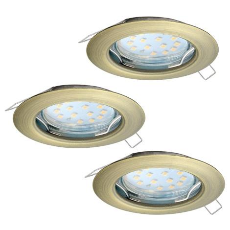 Eglo 94238 - SADA 3x LED Podhledové svítidlo PENETO 3xGU10-LED/3W/230V