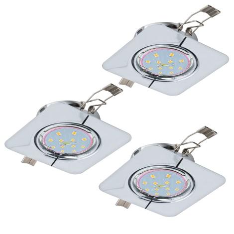 Eglo 94267 - SADA 3x LED Podhledové svítidlo PENETO 3xGU10-LED/5W/230V