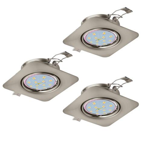 Eglo 94268 - SADA 3x LED Podhledové svítidlo PENETO 3xGU10-LED/5W/230V