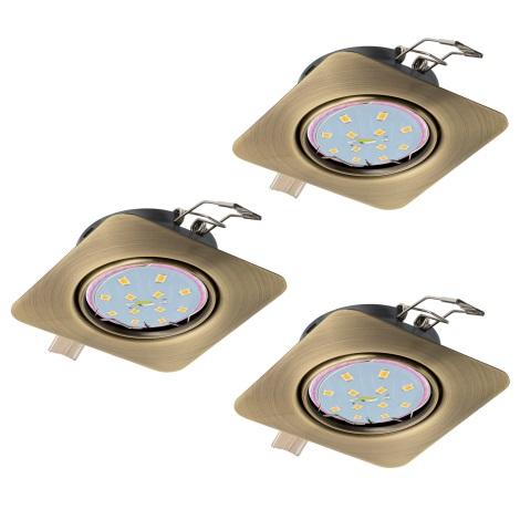 Eglo 94269 - SADA 3x LED Podhledové svítidlo PENETO 3xGU10-LED/5W/230V