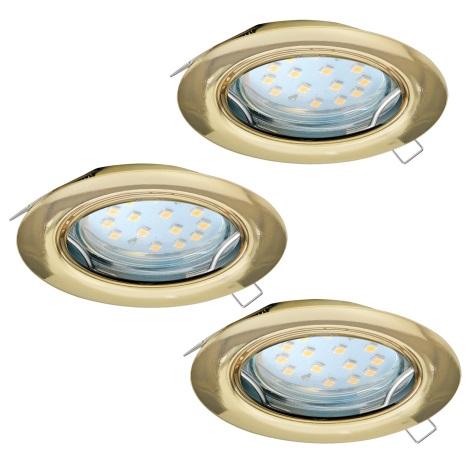 Eglo 94404 - SADA 3x LED Podhledové svítidlo PENETO 3xGU10-LED/3W/230V