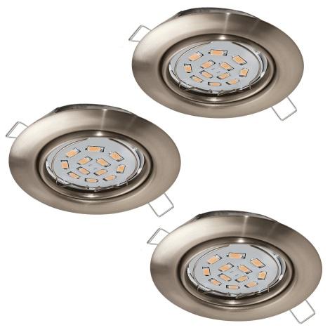 Eglo 94408 - SADA 3x LED Podhledové svítidlo PENETO 3xGU10-LED/5W/230V