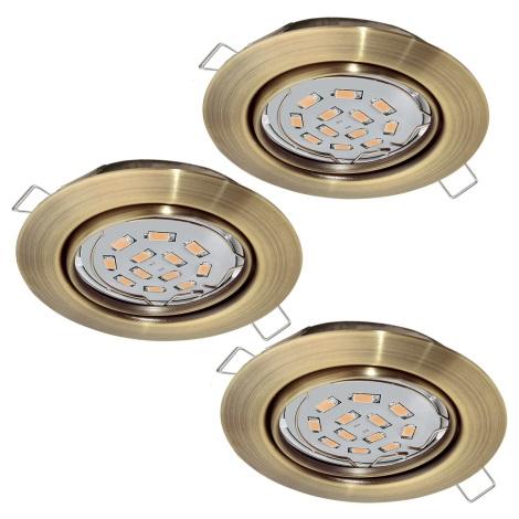 Eglo 94409 - SADA 3x LED Podhledové svítidlo PENETO 3xGU10-LED/5W/230V