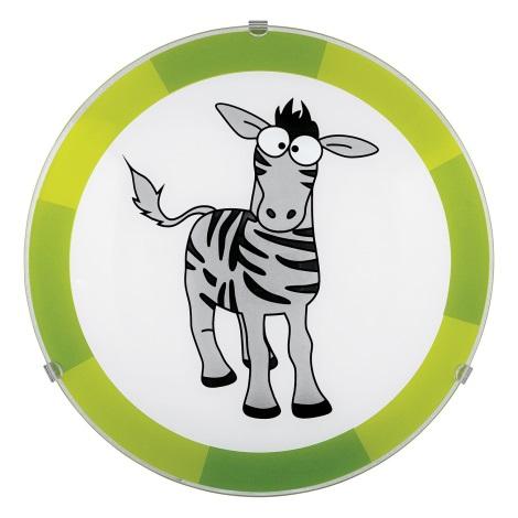 Eglo 94458 - Dětské stropní svítidlo BIUBIU 1xE27/60W/230V zebra