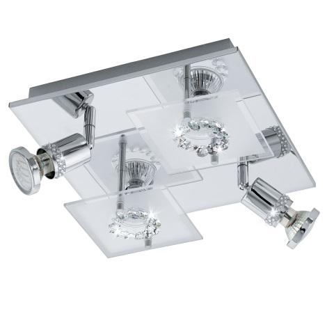 Eglo 94529 - LED bodové svítidlo BALERNA 4xGU10-LED/3W/230V křišťál